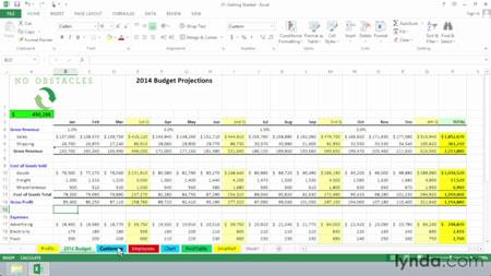 دانلود آموزش اکسل 2013 - Excel 2013 Essential Training 2
