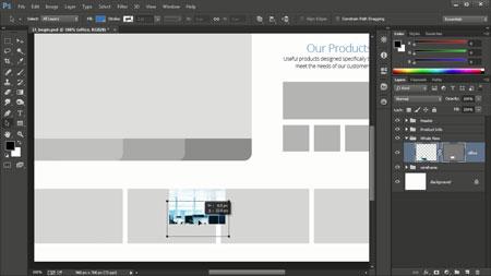 آموزش طراحی سایت با فتوشاپ Your first day designing websites in photoshop 2