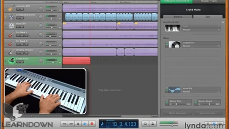 دانلود آموزش گاراژ باند 11 - GarageBand 11 Essential Training-3