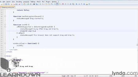 دانلود آموزش اچ تی ام ال 5 : کشیدن و رها کردن - HTML5: Drag and Drop in Depth