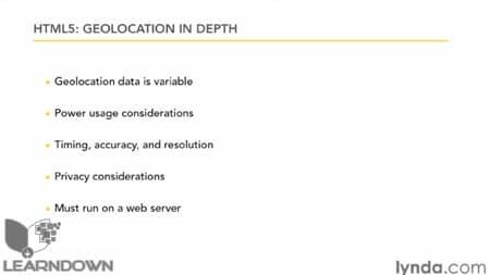 دانلود آموزش اچ تی ام ال 5 : موقعیت جغرافیایی - HTML5: Geolocation in Depth 2