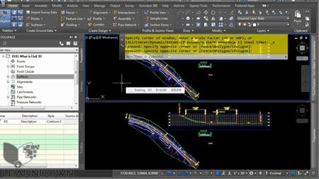 دانلود آموزش اتوکد سیویل تری دی 2015 - Learning AutoCAD Civil 3D 2015 Training Video 2