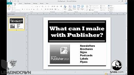 دانلود آموزش پابلیشر 2010 - Publisher 2010 Essential Training 2