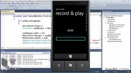 دانلود آموزش اس دی کی ویندوز فون-Windows Phone SDK Essential Training 2