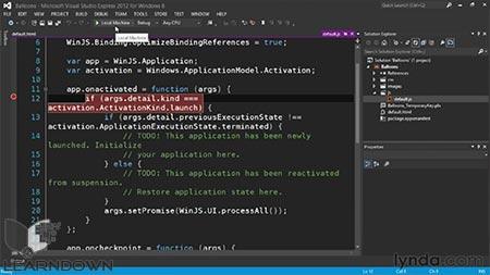 دانلود آموزش ساخت بازی با استفاده از اچ تی ام ال و جاوااسکریپت -Building a Windows Store 2