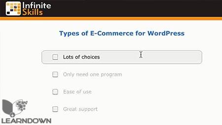 دانلود آموزش استفاده از وردپرس برای فروشگاه اینترنتی- How To Use WordPress for E-Commerce 2