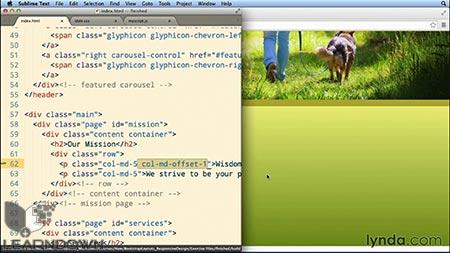 دانلود آموزش طرحبندی بوت استرپ : طراحی تک صفحه ی واکنشگر  Bootstrap Layouts: Responsive Single-Page Design 3