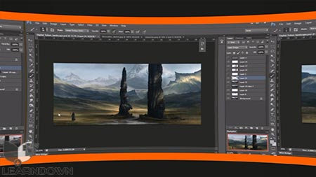 دانلود آموزش ایجاد مفاهیم گیرا در فتوشاپ| Creating Compelling Environment Concepts in Photoshop 3