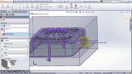 دانلود آموزش سالیدورک - ابزار های قالب | SolidWorks - Mold Tools 2