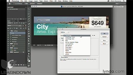 دانلود آموزش طراحی وب : اتوماسیون سازی طراحی های وب | Design the Web: Automating Web Graphics 2