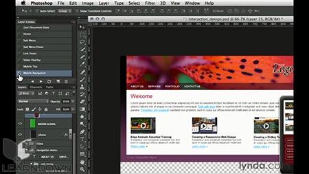 دانلود آموزش طراحی وب : لایر کامپز | Design the Web: Layer Comps 3