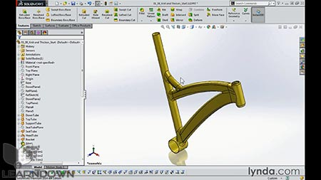 دانلود مدل سازی فریم دوچرخه با سالیدورک | Modeling a Bicycle Frame with SOLIDWORKS 3