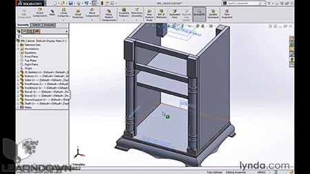 دانلود مدل سازی کابینت در سالیدورک | Modeling a Cabinet with SOLIDWORKS 3