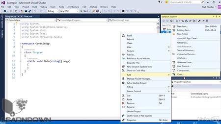 دانلود آموزش ویژوال استدیو : 02 آشنایی با IDE|Visual Studio Essential Training 02 Getting Comfortable with the IDE 3