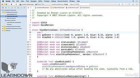 دانلود آموزش پیشرفته توسعه IOS : حرکت هسته  | Advanced iOS App Development: Core Motion 3