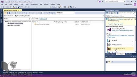 دانلود آموزش ویژوال استدیو : 10 محافظت از کد پایه | Visual Studio Essential Training: 10 Protecting Your Code Base with Source Control Providers 2