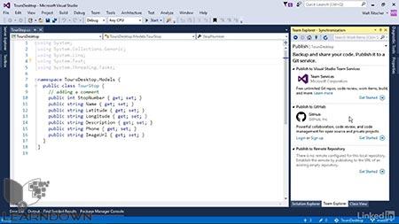 دانلود آموزش ویژوال استدیو : 10 محافظت از کد پایه  | Visual Studio Essential Training: 10 Protecting Your Code Base with Source Control Providers 3