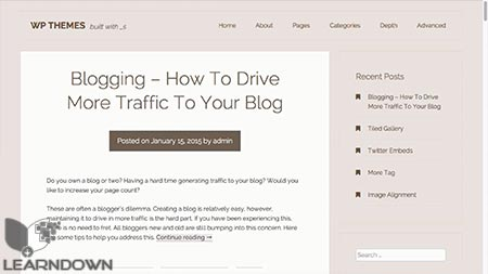 Download WordPress Theme Creation With Underscores - learndown