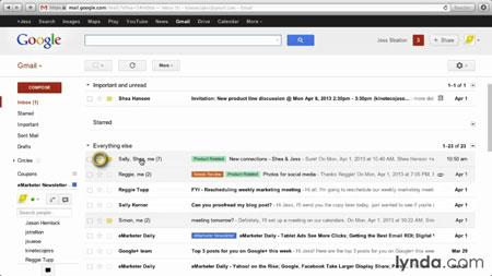 دانلود آموزش جی میل - Gmail Essential Training 3