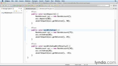 دانلود آموزش مبانی برنامه نویسی TDD در توسعه نرم افزار -Foundations of Programming: Test-Driven 3