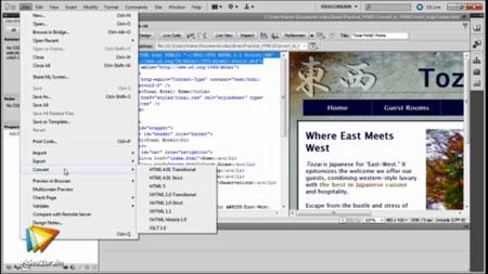 دانلود آموزش html و css و jQuery با ادوبی دریم ویور سی اس 5/5- HTML5, CSS3, and jQuery with Adobe Dreamweaver CS5.5 3