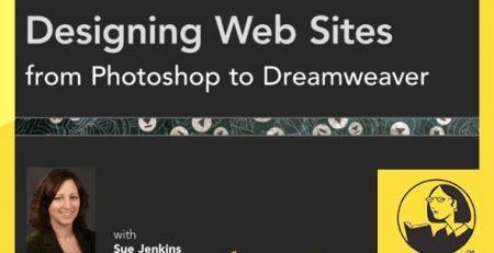 دانلود آموزش طراحی وبسایت از فتوشاپ در دریم ویور - Designing Web Sites from Photoshop to Dreamweaver