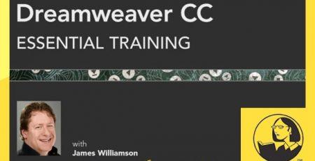دانلود آموزش دریم ویور سی سی - Dreamweaver CC Essential Training