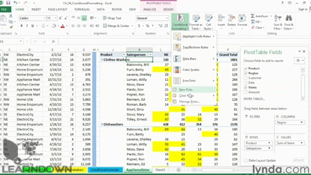 دانلود آموزش اکسل 2013: تکنیک های فرمت بندی پیشرفته - Excel 2013: Advanced Formatting Techniques-3