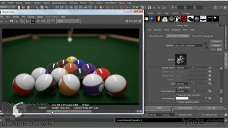 دانلود آموزش وی ری 2 برای مایا - V-Ray 2.0 for Maya Essential Training 3