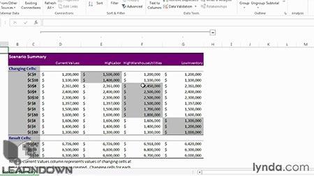 دانلود آموزش اکسل : آنالیز وات ایف- Learning Excel What-If Analysis 2