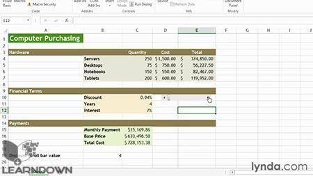 دانلود آموزش اکسل : آنالیز وات ایف- Learning Excel What-If Analysis 3