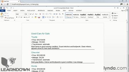 دانلود آموزش پی اچ پی : برون بری اطلاعات به صورت فایل - PHP Exporting Data to Files 3