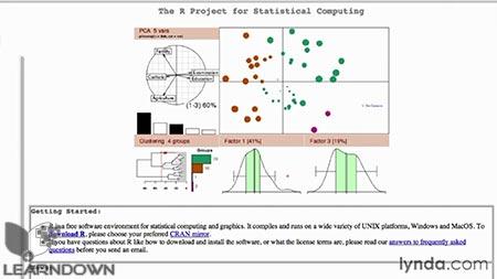 دانلود آموزش زبان آمار محاسباتی آر - R Statistics Essential Training 2
