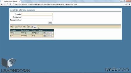 دانلود آموزش اچ تی ام ال 5 : حافظه محلی و آپلیکیشن آفلاین - HTML5 Local Storage and Offline Applications 2