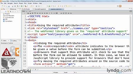 دانلود آموزش اچ تی ام ال 5 : ساخت فرم - HTML5: Web Forms 2