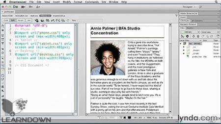 دانلود آموزش طراحی واکنشگر به وسیله دریم ویور - Responsive Design with Dreamweaver CS6 3