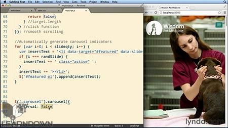دانلود آموزش طرحبندی بوت استرپ : طراحی تک صفحه ی واکنشگر  Bootstrap Layouts: Responsive Single-Page Design