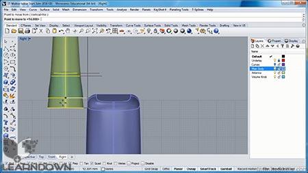 دانلود آموزش مدل سازی کالاهای پیچیده در رینو سه بعدی - Complex Consumer Product Modeling in Rhino 3D 2