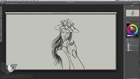دانلود آموزش طراحی حرفه ی کاراکتر در فتوشاپ | Create Professional Character Designs in Photoshop 2