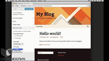 دانلود آموزش سفارشی ساز پوسته وردپرس| The WordPress Theme Customizer 3