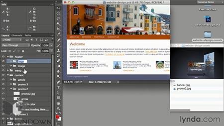 دانلود آموزش طراحی وب : ادوبی جنراتور برای گرافیست ها | Design the Web: Adobe Generator for Graphics 2