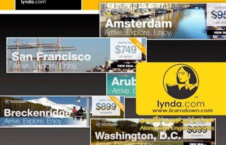 دانلود آموزش طراحی وب : اتوماسیون سازی طراحی های وب | Design the Web: Automating Web Graphics