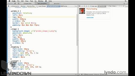 دانلود آموزش طراحی وب : تولید CSS در فتوشاپ | Design the Web: Getting CSS from Photoshop 3