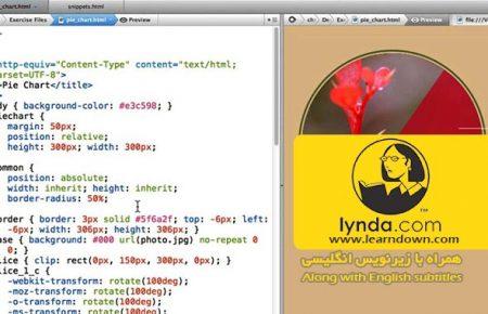 دانلود آموزش طراحی وب : نمودار کیکی به وسیله CSS | Design the Web: Pie Charts with CSS