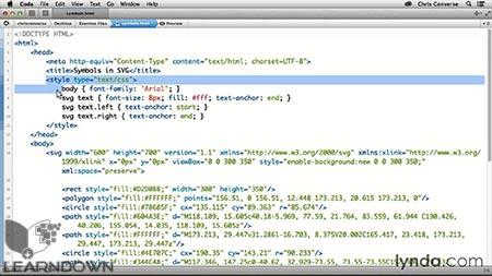 دانلود آموزش طراحی وب : استفاده از نمادها در اس وی جی | Design the Web: Using Symbols in SVG 2