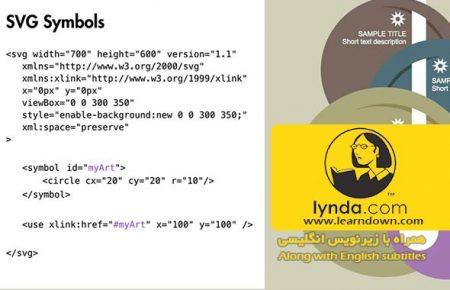 دانلود آموزش طراحی وب : استفاده از نمادها در اس وی جی | Design the Web: Using Symbols in SVG