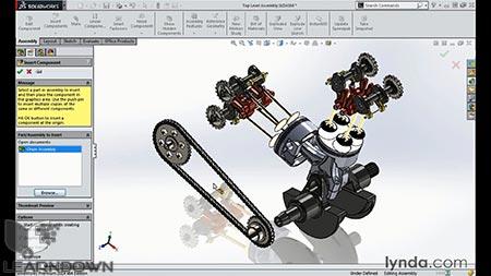 دانلود آموزش مدل سازی انجین موتور سیکلت در سالیدورک | Modeling a Motorcycle Engine with SOLIDWORKS 3