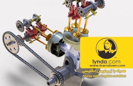 دانلود آموزش مدل سازی انجین موتور سیکلت در سالیدورک | Modeling a Motorcycle Engine with SOLIDWORKS