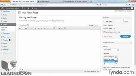 دانلود آموزش ساخت سایت ها به وسیله دریم ویور و وردپرس |Building Sites with Dreamweaver and WordPress 3