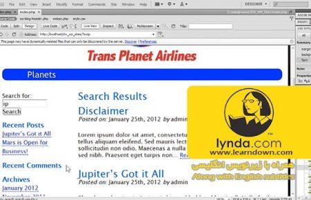 دانلود آموزش ساخت سایت ها به وسیله دریم ویور و وردپرس |Building Sites with Dreamweaver and WordPress